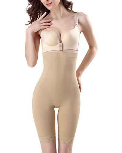 Pantalones Moldeadores Culo Fajas Falso Pieza Seamless Cintura Alta De Body Mujer Bragas Albaricoque M/L
