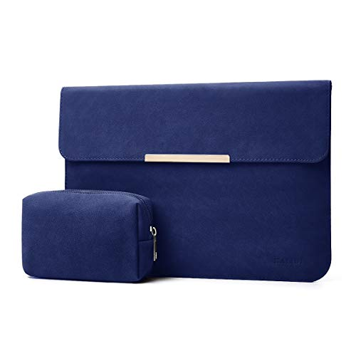 KALIDI 13.3 inch Laptop Sleeve Case Faux Suede Leather for MacBook Air Pro Retina 2016-2020, for 13'-13.5' Surface Pro 5 6 7 with Pouch