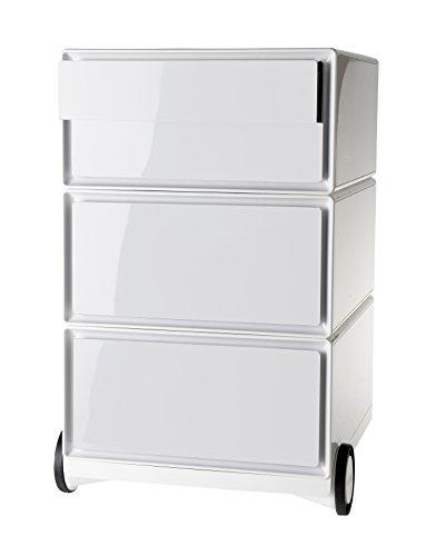 Paperflow EasyBox Vier Schublade Mobiler Sockel Modern weiß/weiß