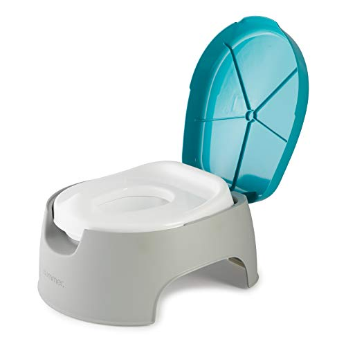 Summer 3-in-1 Train with Me Potty – Potty Seat, Potty Topper and Stepstool for Toddler Potty Training and Beyond – Easy to Empty and Clean, Space Saving 3-in-1 Solution