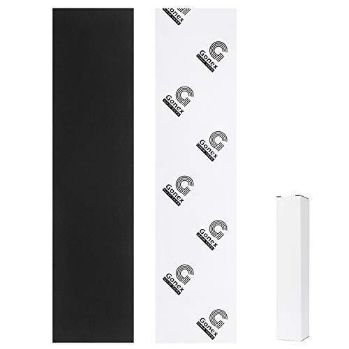 Gonex Skateboard Grip Tape Sheet44x11''(110x26cm), Scooter Papier Abrasif sans Bulle,Imperméable Antidérapante pour Rollerboard, Scooters, Pédale, Pistolet, Fauteuil Roulant, Marche
