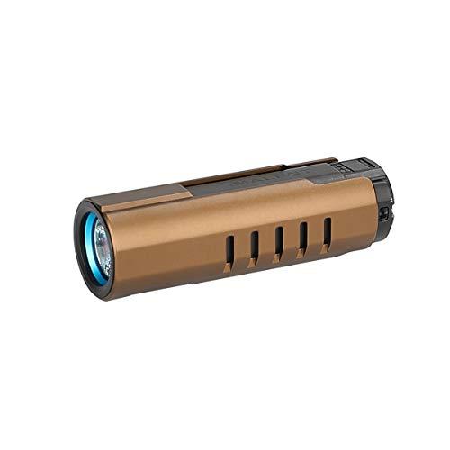 IMALENT LD70 Mini linterna EDC LED recargable, de alto rendimiento, 4000 lúmenes, linterna – utiliza CREE XHP70.2 LED, con pantalla OLED 6 niveles de intensidad para camping y senderismo (dorado)