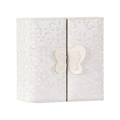 SSHA Joyero Travel Jewelry Organizer Watch Case Joyery Box Storage para Mujeres Pendiente Anillo Bandeja Soporte Pulsera Collar Organizador de Joyas