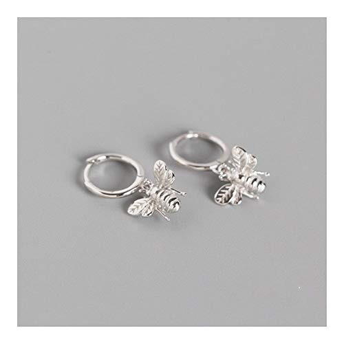 GSZPXF Cute Tiny Bee Earring Sterling Silver Earrings for Women Insect Honey Bee Stud Earring Personality Lady Fashion Jewelry (Color : Platinum Plated)