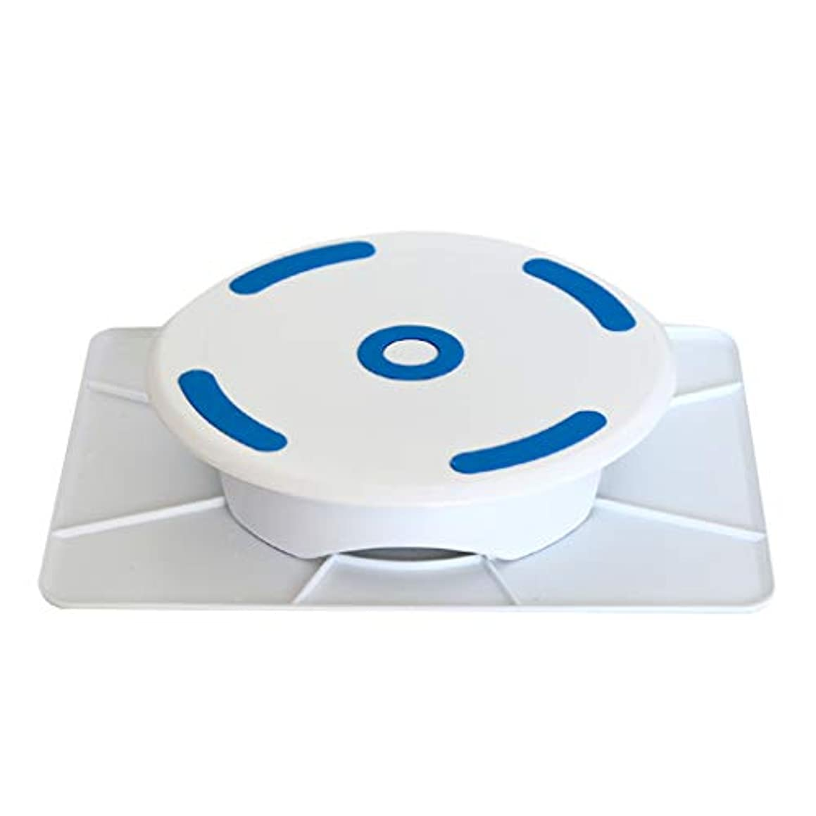 YunZyun Cake Turntable Round and Square Turntable Double-Sided Turntable Cake Turntable Baking Tools for Home Baking (White)