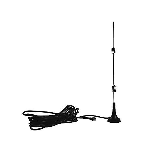TMEZON WiFi Antenna esterna 10FT/3M 7dBi SMA Connettore maschio con Wifi Segnale Amplificatore con cavo SMA 3m per router WiFi, per telecamera wireless/IP/NVR,Magnet Mount