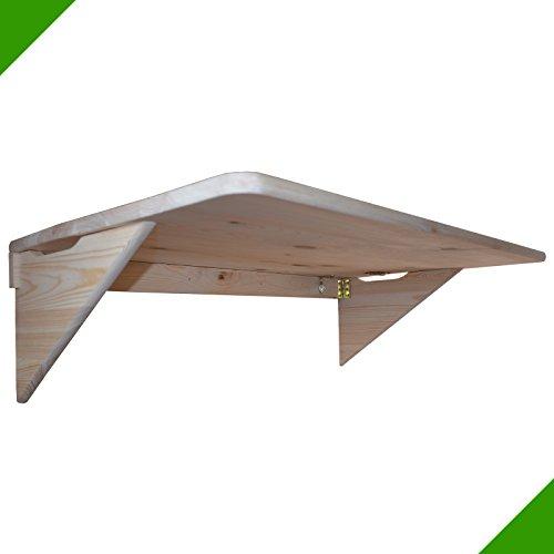 100 x 60 cm Balkontisch Tisch aus Holz Klapptisch Küche Schreibtisch Wandklapptisch Küchentisch Camping Esstisch Holztisch Balkon Kindermöbel Unbehandelt Laptoptisch klappbar
