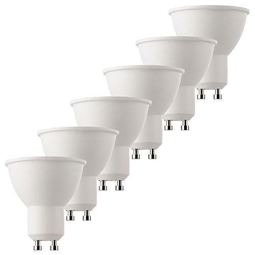 Müller-Licht 400319_Set A+, 6er-Set LED Reflektor 5 W, 4000 K, Plastik, GU10, Weiß, 5 x 5 x 5.5 cm