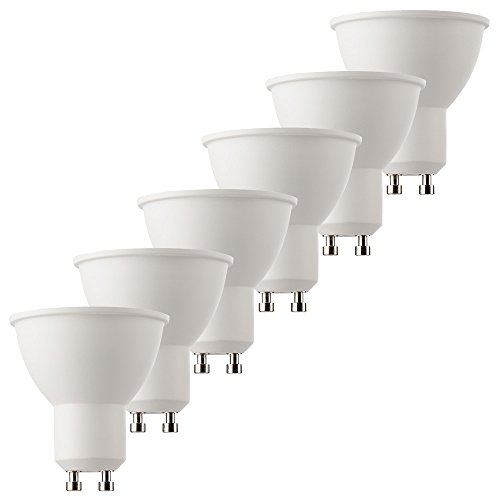 MÜLLER-LICHT 400253_Set A+, 6er-Set HD95-LED Reflektor ersetzt 50 W, Plastik, 6.5 W, GU10, weiß, 5 x 5 x 5.5 cm