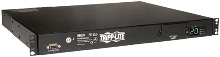 Tripp Lite Metered PDU with ATS, 20A, 10 Outlets (8 C13 & 2 C19), 200-240V, 2 C20, 12 ft. Cord, 1U Rack-Mount Power, TAA (PDUMH20HVAT)