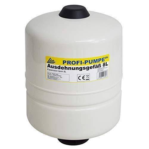 Ausdehnungsgefäß 8L Drucktank für Pumpe Pumpensteuerung Membrankessel Druckbehälter für Pumpensteuerung INVERTER, Durchflusswächter