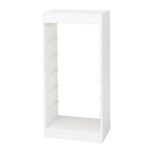 IKEA TROFAST Regalrahmen in weiß; (46cm x 30cm x 94cm)