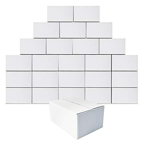 Calenzana 10x7x5 Inches Shipping Boxes Set of 25, Corrugated Cardboard Box for Packing Mailing, White