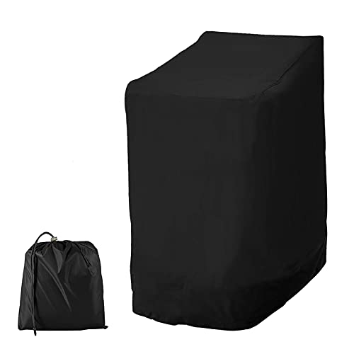Gartenstühle Schutzhülle, 114*85*65cm, 210D Oxford, Stapelstühle Abdeckung Wasserdicht, Winddicht, UV-Beständig, Abdeckung für Stapelstühle, Schutzhülle für Gartenstuhl (1 Stück)