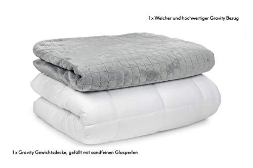 GRAVITY TherapieDecke Gewichtsdecke - Schwere Decke für Erwachsene/Jugendliche Für besseren Schlaf, Größe: 155x220 cm, 8 kg - 3