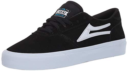 Lakai Limited Footwear Mens Men's Manchester Skate Shoe, Black Suede, 9.5