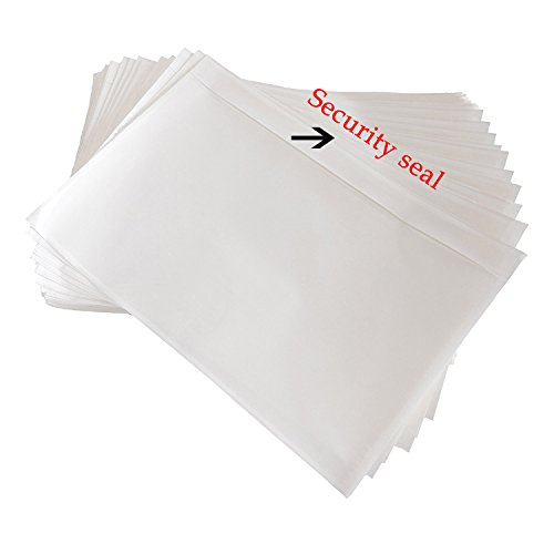 SJPACK 7.5' x 5.5' Clear Adhesive Top Loading Packing List, Label Envelopes Pouches - 100 Packs