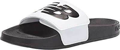 New Balance Women's 200 V1 Adjustable Sandal, White/Black, 9 M US