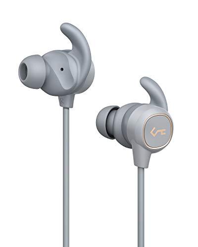 AUKEY Bluetooth Kopfhörer, Key Series Bluetooth 5 Sport In Ear Kopfhörer mit Smart Switch, Wasserfestigkeit IPX6, 8 Stunden Akkulaufzeit und Mikrofon für Fitness, Training und Joggen