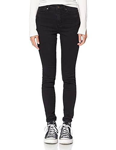 Amazon-Marke: find. Damen Skinny Jeans mit mittlerem Bund, Schwarz (Black),Large