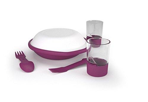 Silva DA Kit Vaisselle pour Camping 2 Personnes Violet Violet