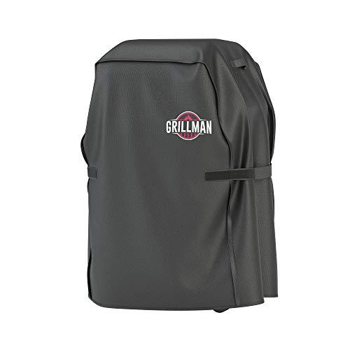 Grillman Premium BBQ Grillabdeckung Heavy Duty Gasgrill Abdeckung für Weber, Brinkmann, Char Broil etc. Reißfest, UV & Wasserfest (30 inch / 76 cm, Schwarz)