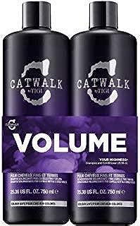 TIGI Catwalk Your Highness Volume Tween, 25.36 Oz Volumizing Shampoo & Conditioner Duo, 2Count ()