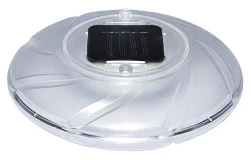 Bestway LED Poolleuchte 18 cm im Durchmesser, wasserfeste und mehrfarbige Solarleuchte