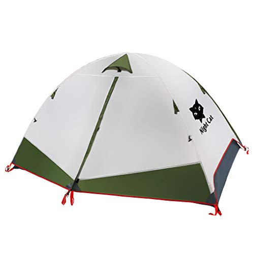 Night Cat Backpacking Tent for 1 2 Persons Camping Tent for Hiking Mountaineering Green