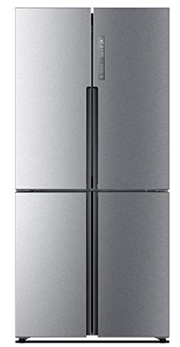 Haier HTF-456DM6 4 Door Cube Fridge Freezer - Silver