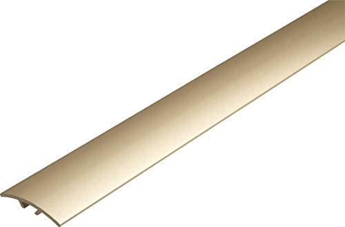 Dural Multifloor Türschwellenleiste aus eloxiertem Aluminium, für Bodenhöhen von 0 - 14 mm, Größe: 40 mm x 900 mm, Champagner, beige