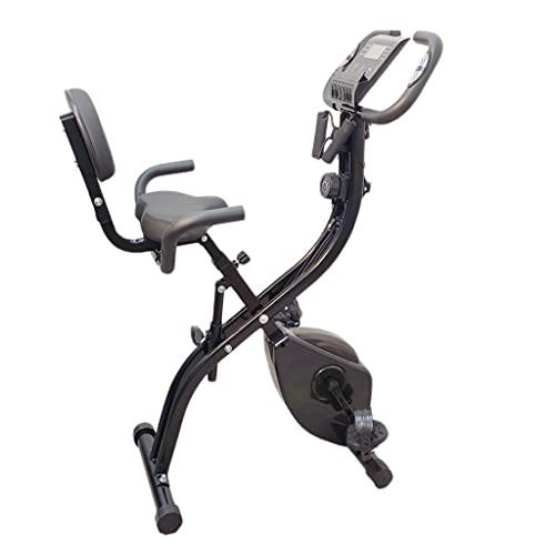 FFitness Cyclette Pieghevole X-Bike Ergometro Seduta Cardiofrequenzimentro Porta Cellulare Bande per Esercizi   Max 120kg