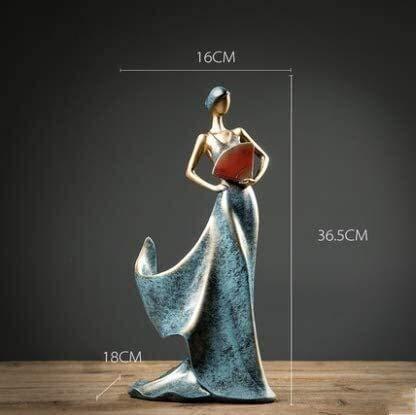 samantha Einzigartiges Handwerk Kreative Weinregale Göttin Dekorative Skulptur Moderne Handwerk Kleine Möbel Wohnzimmer Veranda Home Wine Cabinet Amerikanische Ornamente Ornamente