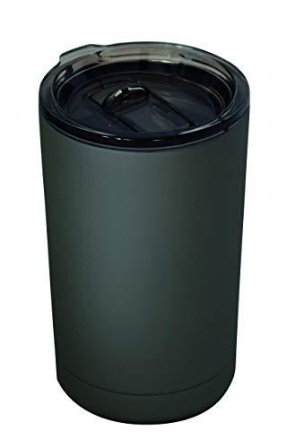 Zak Designs 0015-006 Mono Thermobecher, doppelwandig, Edelstahl, Kohle, 8 x 8 x 13,5 cm