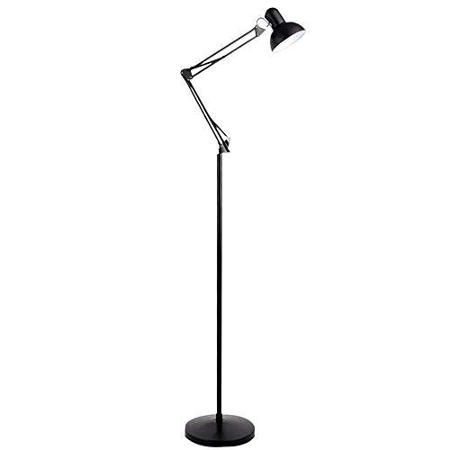 LDH Ajustables Lámpara de pie Minimalista Moderna, Control Remoto, atenuación, Interruptor de Color, Sala de Estar, Dormitorio