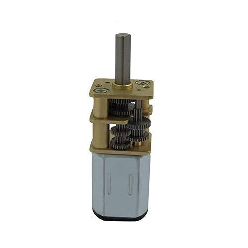 L-Yune, 1pc Bringsmart Mini N20 3-6V DC Velocidad tirón Motores reductores de 5 rpm-40 RPM el Motor del Engranaje con el Metal Motor Reductor for el Robot de Bricolaje (tamaño : 6v 20rpm)
