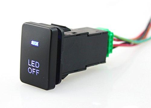トヨタ用コネクタワイヤキット付き青色LEDプッシュスイッチ-LED OFF LIGHTS