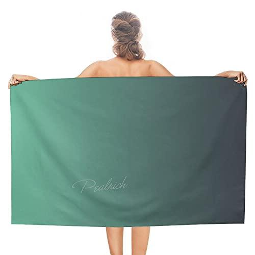 CadetBlue Gradient, Toallas de playa para mujer, sin arena y de secado rápido, toallas de viaje para natación, baño, yoga, deportes, 127 x 76 cm