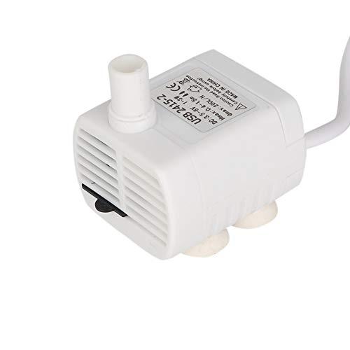Petyoung Bomba de Repuesto para Fuente de Agua para Mascotas Bomba Sumergible Mini Bomba USB para Agua para Acuario dispensador de Agua para Mascotas