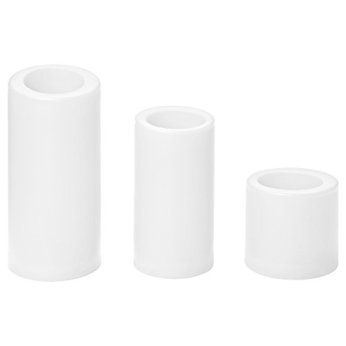 IKEA STOPEN 20281122 LEDブロックキャンドル 電池式 ホワイト 3個セット