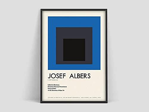 Póster de Josef Albers, impresión de Josef Albers, impresión de arte, póster abstracto, arte minimalista, pintura en lienzo sin marco Q-60 60x90cm