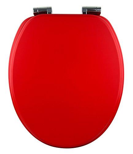 Eisl WC Sitz Spirit, Holzkern, mit Absenkautomatik, rot, ED09590SC