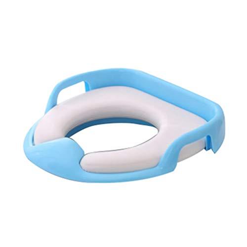 N / A WC Trainer,Toiletten-Sitz für Kinder,toilettensitz Kinder,ergonomisch geformt, sicher und bequem, mit Spritzschutz Blau Einheitsgröße