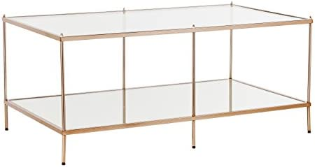 Best SEI Furniture Knox Glam Mirrored, Coffee Table, Gold
