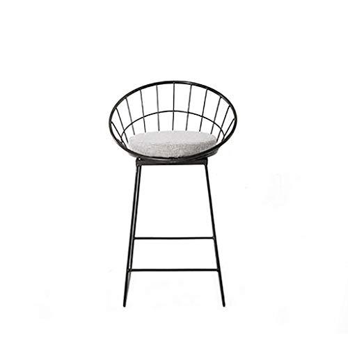 Einfache Barhocker Schmiedeeisen Barhocker Schwarz Hochhocker Modern Dining Stuhl Metall Draht...