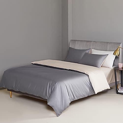 IKITOBI Sábana bajera ajustable, sábana bajera extra profunda, transpirable y sedosa, no necesita planchado, juego de sábanas de 4 piezas