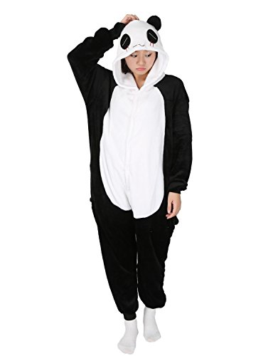 LATH.PIN Pigiama Panda Donna Kigurumi Unisex Adulto Cosplay Halloween Carnevale Costume Animale Pigiama Pinguino