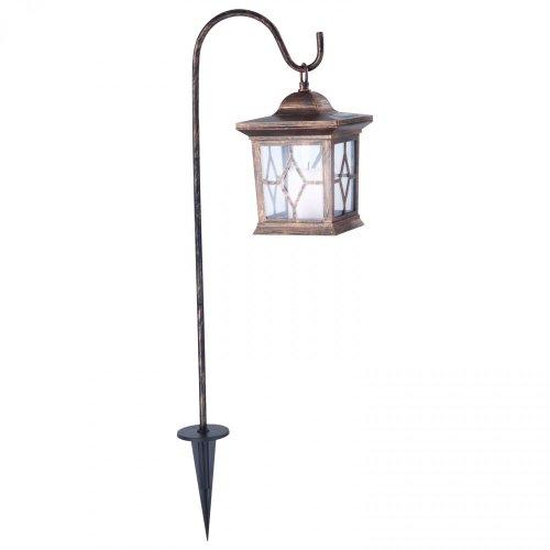 LED Solar Garten Lampe Grab Beet Licht Hof Weg Beleuchtung Laterne Kupfer Leuchte Globo 33271