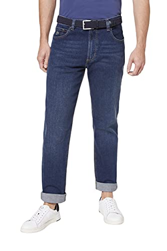 bugatti Herren 3280D-16640 Loose Fit Jeans, Blau (Stone Washed 343), W42/L32