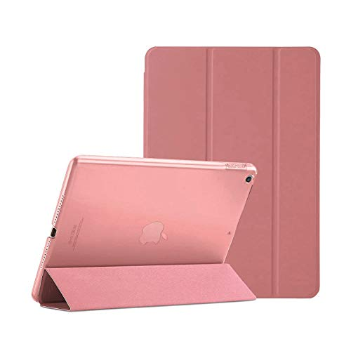 TechDealsUK Smart Magnetic Stand Case Cover with Automatic Wake/Sleep for Apple iPad Air 2/2nd Generation A1566 A1567 (Pink)
